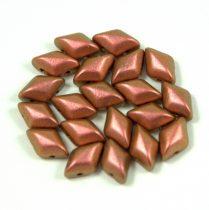 Gemduo cseh préselt üveggyöngy - jet polychrome copper rose - 5x8 mm