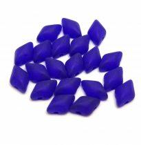 Gemduo cseh préselt üveggyöngy - Matte Transparent Sapphire - 5x8 mm