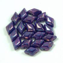 Gemduo cseh préselt üveggyöngy - sapphire nebula - 5x8 mm