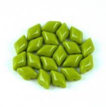 Gemduo cseh préselt üveggyöngy - green pea - 5x8 mm