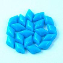 Gemduo cseh préselt üveggyöngy - Turquoise Blue - 5x8 mm