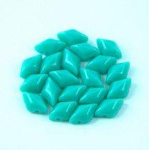 Gemduo cseh préselt üveggyöngy - Turquoise Green - 5x8 mm