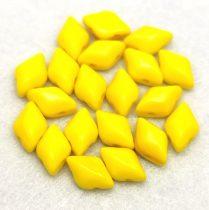 Gemduo cseh préselt üveggyöngy - Opaque Jonquil - 5x8 mm