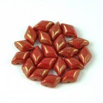 Gemduo cseh préselt üveggyöngy - Red Bronze Luster - 5x8 mm