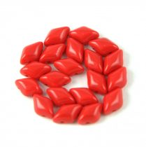 Gemduo cseh préselt üveggyöngy - opaque red - 5x8 mm