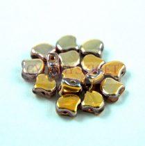 Ginko - cseh préselt kétlyukú gyöngy - Crystal Santander - 7.5 x 7.5 mm