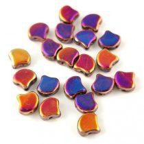 Ginko - cseh préselt kétlyukú gyöngy - Crystal Full Sliperit - 7.5 x 7.5 mm