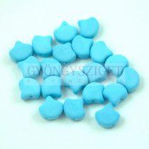 Ginko - cseh préselt kétlyukú gyöngy - Bondeli Matte Blue Raspberry - 7.5 x 7.5 mm