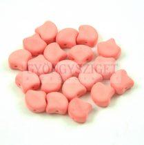 Ginko - cseh préselt kétlyukú gyöngy - Bondeli Matte Coral - 7.5 x 7.5 mm