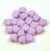 Ginko - cseh préselt kétlyukú gyöngy - Bondeli Matte Purple - 7.5 x 7.5 mm