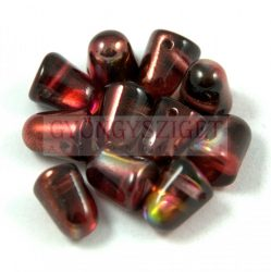 Gumdrop 7x10mm - kristály piros barna magic