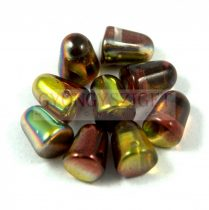 Gumdrop 7x10mm - kristály oliva barna magic