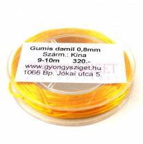 Gumis damil - 0,8mm - tekercs - 9-10m - Sunflower (lapos)