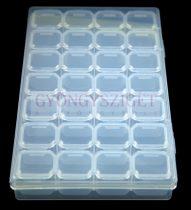 Gyöngy tároló - 28 rekeszes - 17x10.5 cm