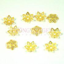Gyöngykupak - arany színű - 7mm