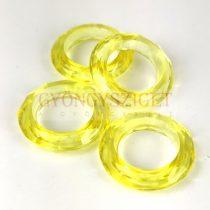 Műanyag gyűrű - Yellow - 20mm