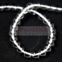 Hegyikristály gyöngy - 6mm - szálon