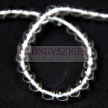 Hegyikristály gyöngy - 8mm - szálon