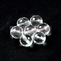 Hegyikristály golyó gyöngy - csiszolt - 8mm