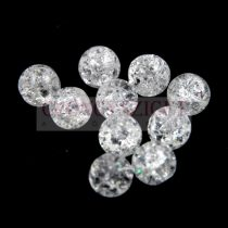 Hegyikristály gyöngy - roppantott - 6mm