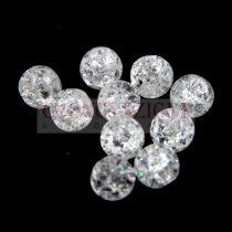 Hegyikristály gyöngy - roppantott - 8mm – szálon