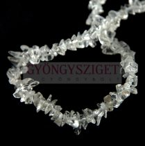 Hegyikristály gyöngy - splitter - szúrós - 5 - 7 mm - szálon