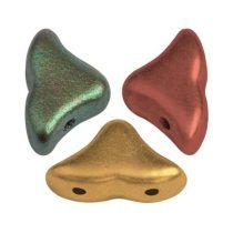 Hélios® par Puca®gyöngy - Yellow Gold Metallic Iris - 6x10 mm