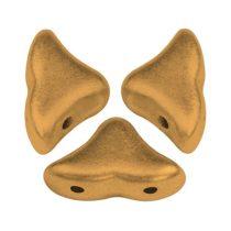 Hélios® par Puca®gyöngy - Bronze Gold Mat  - 6x10 mm