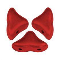 Hélios® par Puca®gyöngy - Red Metallic Mat - 6x10 mm