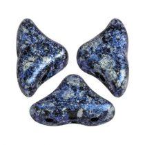Hélios® par Puca®gyöngy - Tweedy Blue - 6x10 mm
