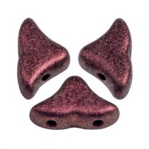 Hélios® par Puca®gyöngy - Metallic Mat Dark Violet - 6x10 mm