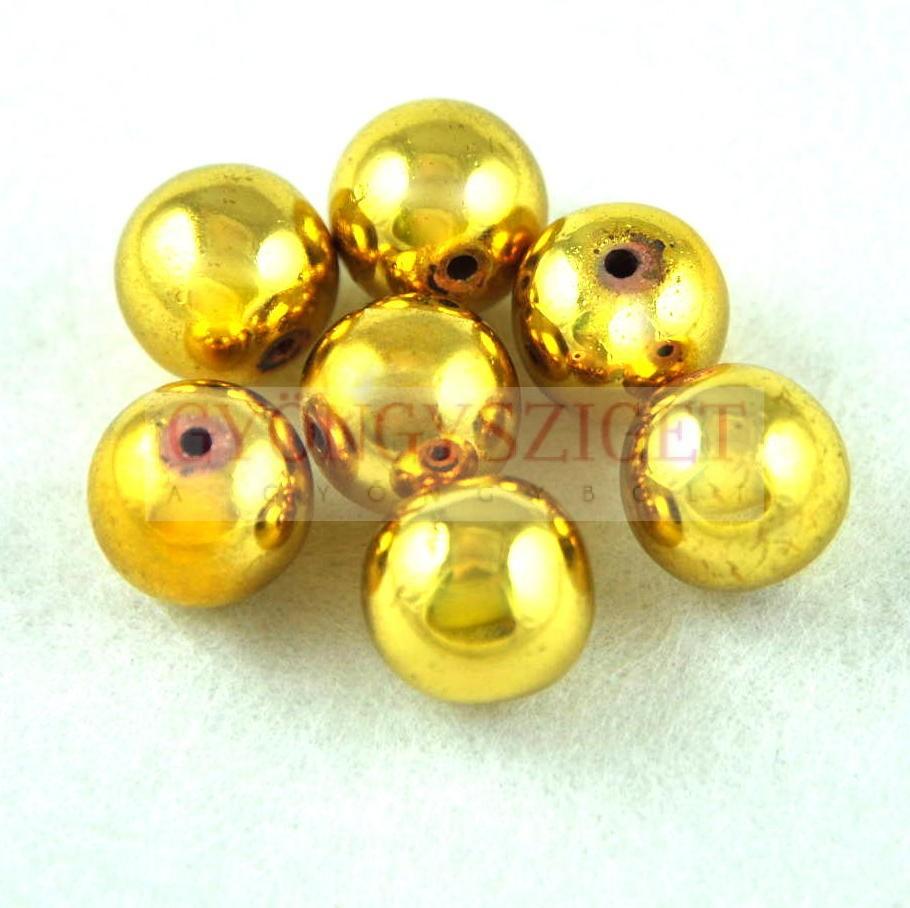 Hematit golyó gyöngy - arany színű - 10mm Hematit gyöngyök 00f5a4f80d