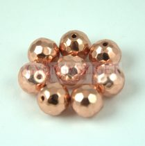 Hematit golyó gyöngy - csiszolt - Rose Gold színű - 6mm