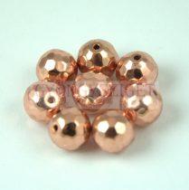 Hematit golyó gyöngy - csiszolt - Rose Gold színű - 8mm