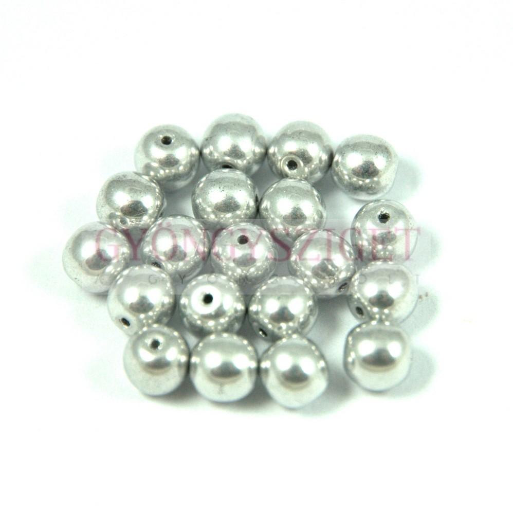 Hematit golyó gyöngy - világos ezüst színű - 10mm Hematit gyöngyök 82af8c690c