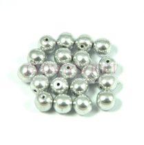 Hematit golyó gyöngy - világos ezüst színű - 6mm