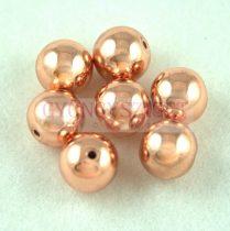 Hematit golyó gyöngy - rose gold színű - 6mm