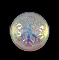 Üveg kaboson - Hópihe - Alabaster AB - 21mm