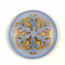 Üveg kaboson - Hópihe - Matt Sapphire Gold - 21mm