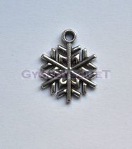 Medál - hópihe - antik ezüst színű - 15mm