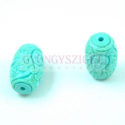 Gyanta gyöngy - Hordó - Green - 11x21mm