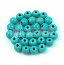 Howlite - round bead - Turquoise - 4mm