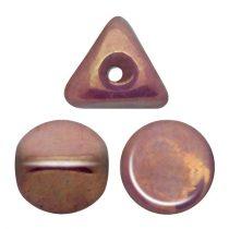 Ilos® par Puca®gyöngy - Opaque Mix Violet Gold Ceramic Look - 5x5 mm