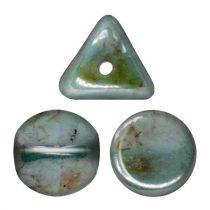 Ilos® par Puca®gyöngy - Opaque Blue Green Ceramic Look - 5x5 mm