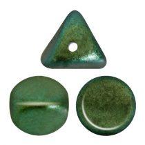 Ilos® par Puca®gyöngy - Metallic Mat Green Turquoise - 5x5 mm
