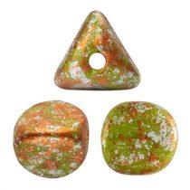 Ilos® par Puca®gyöngy - Opaque Green  Tweedy - 5x5 mm