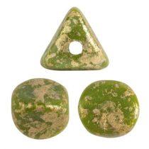 Ilos® par Puca®gyöngy - Opaque Green Splash - 5x5 mm