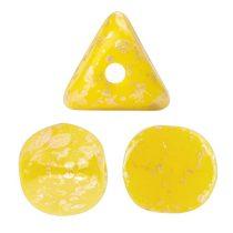 Ilos® par Puca®gyöngy - Opaque Jonquil Splash - 5x5 mm