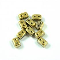 Ios® par Puca®gyöngy - crystal full amber - 5.5x2.5 mm