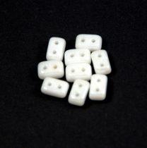 Ios® par Puca®gyöngy - white luster - 5.5x2.5 mm